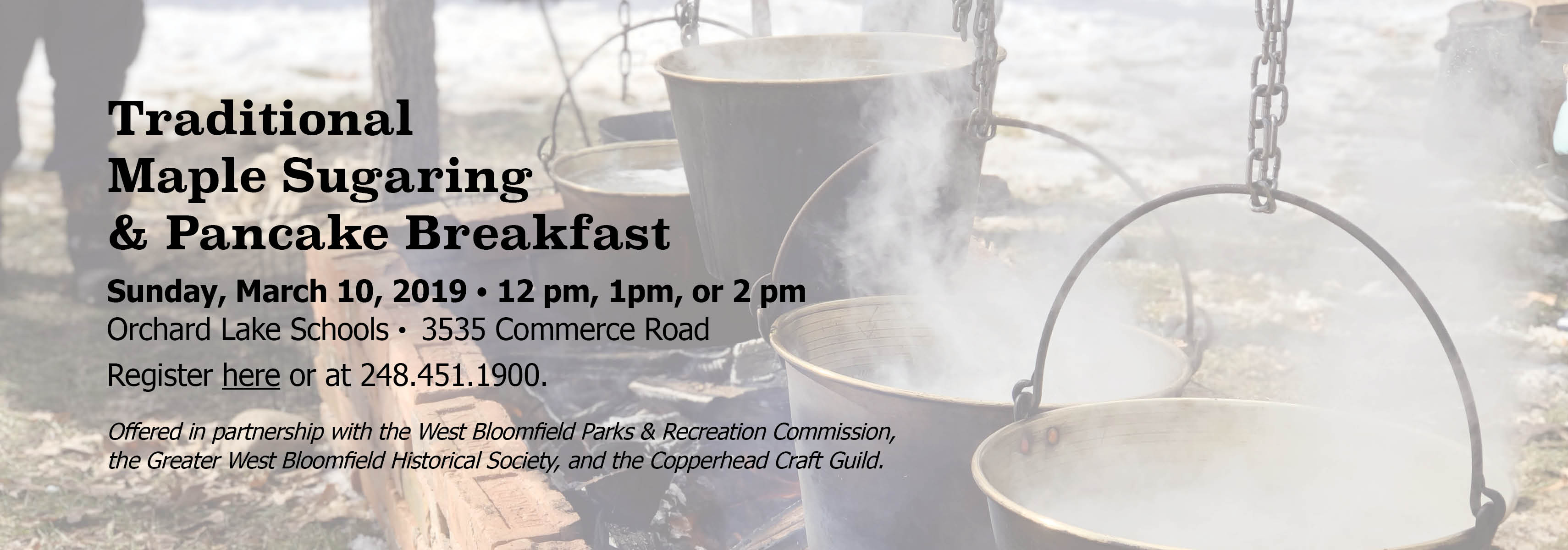 Traditional Maple Sugaring & Pancake Breakfast